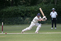 Four runs for Harold Wood during Brentwood CC (bowling) vs Harold Wood CC, Hamro Foundation Essex League Cricket at The Old County Ground on 12th June 2021