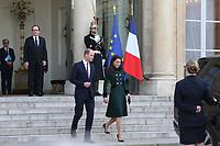 LE PRINCE WILLIAM ET KATE RECUS A L' ELYSEE PAR LE PRESIENT FRANCOIS HOLLANDE A L' ELYSEE, PARIS 17 MARS 2017