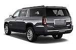 Car pictures of rear three quarter view of a 2015 GMC Yukon Xl Sle 5 Door Suv 2WD Angular Rear