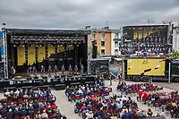 Team DSM at the pre Tour teams presentation of the 108th Tour de France 2021 in Brest at le Grand Départ.
