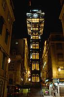 Portugal, Elevator de Santa Justa in Lissabon