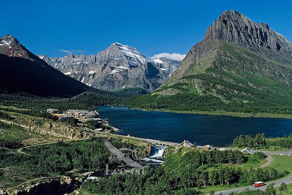 Swiftcurrent Lake, Many Glacier Hotel, Glacier National Park, MT.