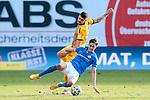 20.02.2021, xtgx, Fussball 3. Liga, FC Hansa Rostock - SV Waldhof Mannheim, v.l. Gerrit Gohlke (Mannheim, 27), Tobias Schwede (Rostock) Zweikampf, Duell, Kampf, tackle <br /> <br /> (DFL/DFB REGULATIONS PROHIBIT ANY USE OF PHOTOGRAPHS as IMAGE SEQUENCES and/or QUASI-VIDEO)<br /> <br /> Foto © PIX-Sportfotos *** Foto ist honorarpflichtig! *** Auf Anfrage in hoeherer Qualitaet/Aufloesung. Belegexemplar erbeten. Veroeffentlichung ausschliesslich fuer journalistisch-publizistische Zwecke. For editorial use only.