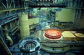 Hungary. Paks nuclear power station reactor room.