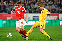 Aleksei Miranchuk midfielder of Russia, Kevin De Bruyne forward of Belgium  <br /> Saint Petersbourg  - Qualification Euro 2020 - 16/11/2019 <br /> Russia - Belgium <br /> Foto Photonews/Panoramic/Insidefoto <br /> ITALY ONLY