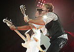 Jay DeMarcus and Joe Don Rooney of the country music band Rascal Flatts perform at the Susquehanna Bank Center in Camden New Jersey July 9, 2011.Copyright EML/Rockinexposures.com..