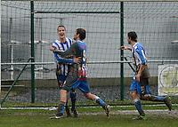 Club Roeselare - WS Oudenburg : Oudenburg viert de 0-3<br /> Foto VDB / Bart Vandenbroucke