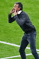 6th July 2021; Wembley Stadium, London, England; Euro 2020 Football Championships semi-final, Italy versus Spain; Spain manager Luis Enrique as his team allow a goal from Italy
