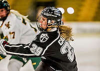 13 November 2015: Providence College Friar Forward Cassidy Carels, a Junior from Bruxelles, Manitoba, in action against the University of Vermont Catamounts at Gutterson Fieldhouse in Burlington, Vermont. The Lady Friars defeated the Lady Cats 4-1 in Hockey East play. Mandatory Credit: Ed Wolfstein Photo *** RAW (NEF) Image File Available ***