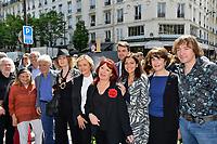 Tante de Moustaki, Guy BEDOS, Noelle CHATELET, Florence BERTHOUT, Pia MOUSTAKI, Anne HIDALGO - Inauguration Place Georges Moustaki - 23/5/2017 - Paris - France