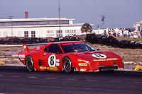 #8 Ferrari 512 of Steve Shelton, Tom Shelton, and Derek Bell (57th place )12 Hours or Sebring, Sebring International Raceway, Sebring, FL, March 19, 1983.  (Photo by Brian Cleary/bcpix.com)