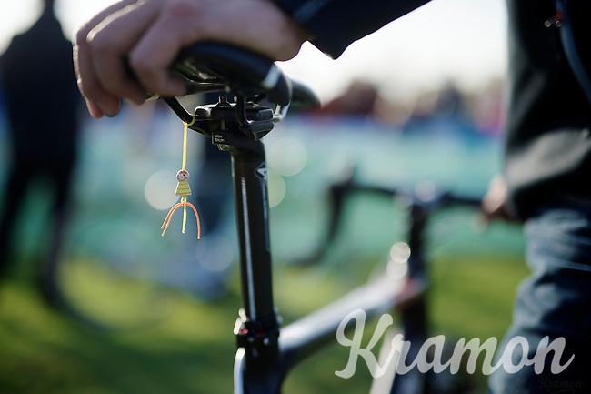 in-race amulet for safekeeping<br /> <br /> Koppenbergcross 2014