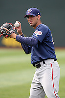 April 11, 2010:  Pitcher Rafael Martin of the Harrisburg Senators during a game at Blair County Ballpark in Altoona, PA.  Harrisburg is the Double-A Eastern League affiliate of the Washington Nationals.  Photo By Mike Janes/Four Seam Images