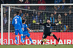 Goalkeeper Iago Herrerin Buisan of Athletic Club de Bilbao reaches for the ball after an attempt at goal by Getafe CF during the La Liga 2017-18 match between Getafe CF and Athletic Club at Coliseum Alfonso Perez on 19 January 2018 in Madrid, Spain. Photo by Diego Gonzalez / Power Sport Images