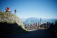 First grupetto up the Lacets du Grand Colombier (Cat1/891m/8.4km/7.6%)<br /> <br /> stage 15: Bourg-en-Bresse to Culoz (160km)<br /> 103rd Tour de France 2016