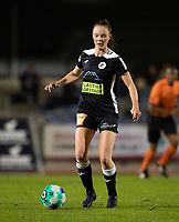 Loes Van Mullem (33) of Eendracht Aalst pictured during a female soccer game between FC Femina White Star Woluwe and Eendracht Aalst on the sixth matchday in the 2021 - 2022 season of Belgian Scooore Womens Super League , friday 8 th of october 2021  in Woluwe , Belgium . PHOTO SPORTPIX | KRISTOF DE MOOR