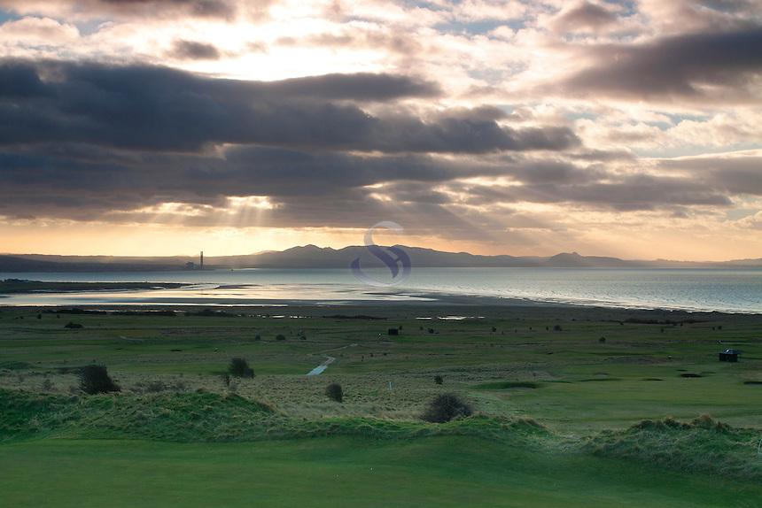 The East Lothian coastline, the Pentland Hills and Arthur's Seat from Gullane Hill, Gullane