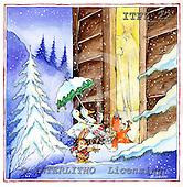 Fabrizio, Comics, CHRISTMAS SANTA, SNOWMAN, paintings, ITFZ22,#x# Weihnachten, Navidad, illustrations, pinturas