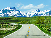 Highway 89 North to St. Mary on the Blackfeet Reservation