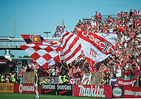 05 June 2010: Kansas City Wizards goalkeeper Jimmy Nielsen #1seems to be in the wrong end of the field with the Toronto FC crowd during a game between the Kansas City Wizards and Toronto FC at BMO Field in Toronto..The game ended in a 0-0 draw.