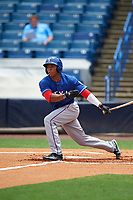 Brandon McIlwain (11) of Council Rock North High School in Newtown, Pennsylvania playing for the Texas Rangers scout team during the East Coast Pro Showcase on July 28, 2015 at George M. Steinbrenner Field in Tampa, Florida.  (Mike Janes/Four Seam Images)