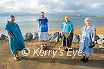 Getting ready to take the plunge in Fenit on Sunday, l to r: Hazel Reed, Nora O'Regan, Charlotte Doyle and Patricia O'Halloran