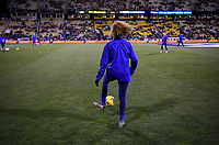 COLUMBUS, OH - NOVEMBER 07: Casey Short #26 of the United States warming up during a game between Sweden and USWNT at MAPFRE Stadium on November 07, 2019 in Columbus, Ohio.