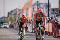"""Jan-Willem Van Schip (NED/Roompot-Nederlandse Loterij) finishing 5th<br /> <br /> Antwerp Port Epic 2018 (formerly """"Schaal Sels"""")<br /> One Day Race:  Antwerp > Antwerp (207 km; of which 32km are cobbles & 30km is gravel/off-road!)"""