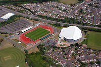 Aerial view of Newport south Wales