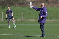 Pictured: Coach Cameron Toshack Friday 24 March 2017<br /> Re: Swansea City U23 training ahead of their International Cup game against Porto, Fairwood training ground, UK