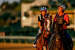 August 30, 2020: Bonny South walks on the track as horses prepare for the 2020 Kentucky Derby and Kentucky Oaks at Churchill Downs in Louisville, Kentucky. The race is being run without fans due to the coronavirus pandemic that has gripped the world and nation for much of the year. Scott Serio/Eclipse Sportswire/CSM