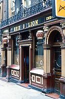 London: The Red Lion Pub, Duke of York Street, St. James.