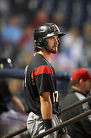 Richmond Flying Squirrels center fielder Steven Duggar (17) in the dugout during a game against the Akron RubberDucks on July 26, 2016 at Canal Park in Akron, Ohio .  Richmond defeated Akron 10-4.  (Mike Janes/Four Seam Images)