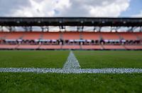 HOUSTON, TX - JUNE 13: BBVA Stadium before a game between Nigeria and Portugal at BBVA Stadium on June 13, 2021 in Houston, Texas.