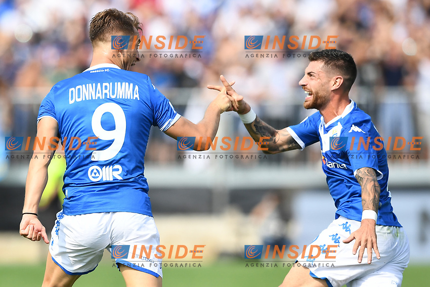 Celebration after a goal of Alfredo Donnarumma <br /> Brescia 15/09/2019 Stadio Mario Rigamonti <br /> Football Serie A 2019/2020 <br /> Brescia Calcio - Bologna FC <br /> Photo Image Sport / Insidefoto