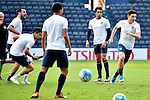 Players of Buriram United (THA) and FC Seoul (KOR) in training on 22 February 2016, one day before their 2016 AFC Champions League Group F match at the New I-Mobile Stadium, Buriram, Thailand.