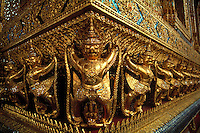 Detail from Buddhist temple, Bangkok, Thailand.