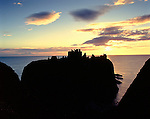 Dunnottar Castle, Nr Stonehaven, Aberdeenshire, Scotland. Uk.  Its name implies that from early Pictish times this impressive cliff top castle was a fortified dun. Celtic Britain published by Orion.