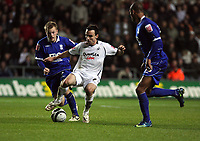 Pictured: Leon Britton of Swansea City in action <br /> Re: Coca Cola Championship, Swansea City Football Club v Birmingham City at the Liberty Stadium, Swansea, south Wales Friday 21 November 2008.<br /> Picture by D Legakis Photography (Athena Picture Agency), Swansea, 07815441513
