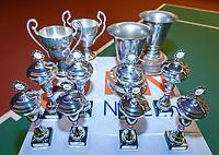 Wateringen, The Netherlands, December 8,  2019, De Rhijenhof , NOJK juniors 14 and18 years, Trophy table<br /> Photo: www.tennisimages.com/Henk Koster