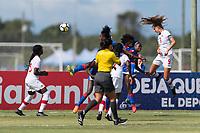 Bradenton, FL - Sunday, June 12, 2018: Jordyn Huitema prior to a U-17 Women's Championship 3rd place match between Canada and Haiti at IMG Academy. Canada defeated Haiti 2-1.