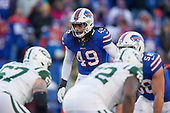 Buffalo Bills Tremaine Edmunds (49) on defense during an NFL football game against the New York Jets, Sunday, December 9, 2018, in Orchard Park, N.Y.  (Mike Janes Photography)