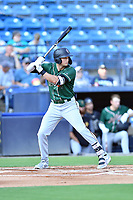 Greensboro Grasshoppers Matthew Gorski (36) awaits a pitch during a game against the Asheville Tourists on August 24, 2021 at McCormick Field in Asheville, NC. (Tony Farlow/Four Seam Images)