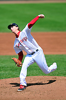 Portland Sea Dogs pitcher Henry Owens (23) during a game versus the New Britain Rock Cats at Hadlock Field in Portland, Maine on May 17, 2014. (Ken Babbitt/Four Seam Images)
