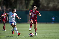 STANFORD, CA - SEPTEMBER 12: Julia Leontini during a game between Loyola Marymount University and Stanford University at Cagan Stadium on September 12, 2021 in Stanford, California.