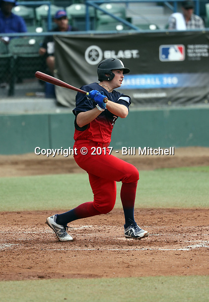Triston Casas plays in the 2017 Area Code Games on August 6-10, 2017 at Blair Field in Long Beach, California (Bill Mitchell)