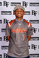 Channing Vernon (3) of Lamar Consolidated High School in Fort Worth, Texas during the Baseball Factory All-America Pre-Season Tournament, powered by Under Armour, on January 12, 2018 at Sloan Park Complex in Mesa, Arizona.  (Mike Janes/Four Seam Images)