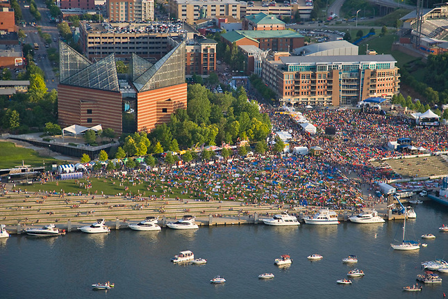 Riverbend festival on Chattanooga's riverfront