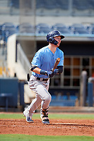 Tampa Bay Rays Grant Witherspoon (33) follows through on a swing during a Florida Instructional League game against the Baltimore Orioles on October 1, 2018 at the Charlotte Sports Park in Port Charlotte, Florida.  (Mike Janes/Four Seam Images)