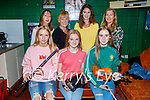 Musicians getting ready backstage at the inaugural Ballybunion Arts Festival in the Tinteán Theatre on Thursday. Front l to r: Emma and Grace Heffernan, Daibhín Laide from the Ballydonoghue/Lisselton branch of Comhaltas Ceoltóirí Éireann. Back l to r: Sheila O'Leary (Rathmore), Margaret O'Sullivan (Rathmore), Katie McNamara Purcell (Lisselton) and Catriona Heffernan (Tralee).